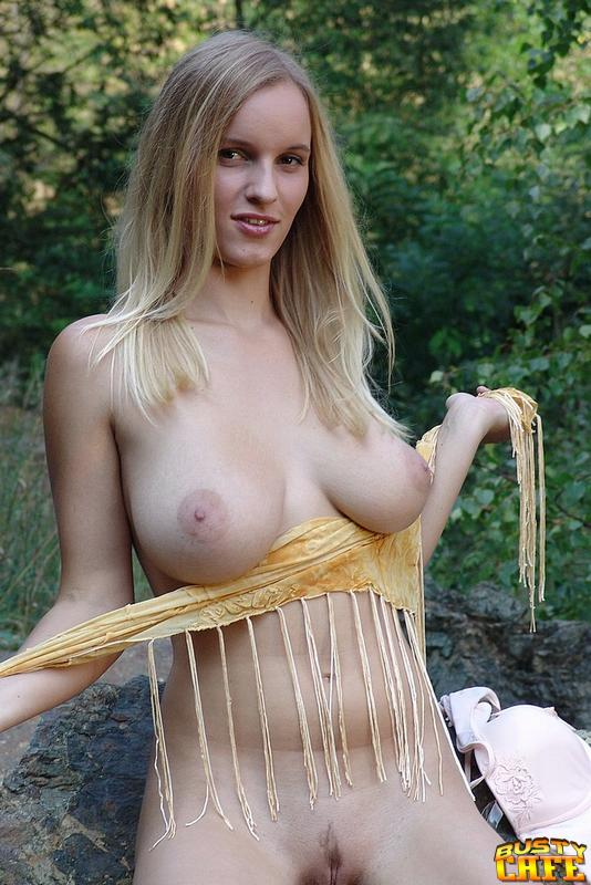 Blonde With Massive Boobs Has A